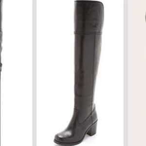 Frye Kendall Over the Knee Black Boots
